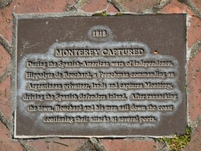 Monterey History Time Line Marker - 1818 – Monterey Captured image. Click for full size.
