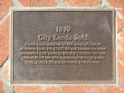 Monterey History Time Line Marker - 1859 – City Lands Sold image. Click for full size.