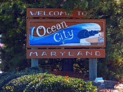 Welcome to Ocean City image. Click for full size.