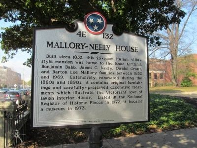 Mallory-Neely House Marker image. Click for full size.