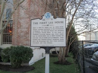 The First Lee House Marker image. Click for full size.