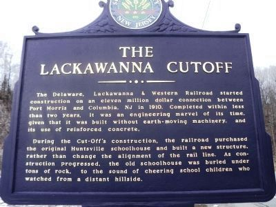The Lackawanna Cutoff Marker image. Click for full size.