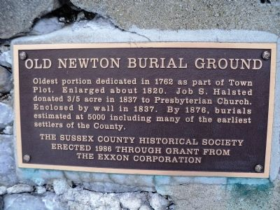 Old Newton Burial Ground Marker image. Click for full size.