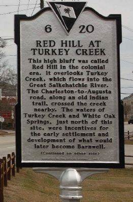 Red Hill At Turkey Creek Marker image. Click for full size.