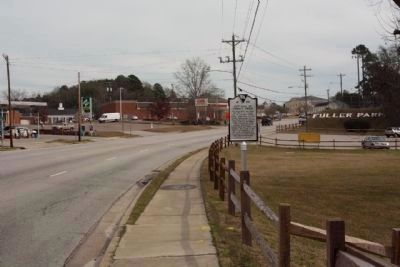 Red Hill At Turkey Creek Marker, looking east along Dunbarton Blvd (US 278 State Route 64) image. Click for full size.