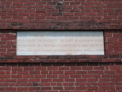 Inscription on the 1888 Church Tower image. Click for full size.