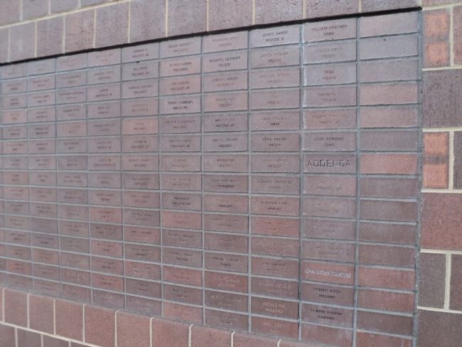 Closeup of Memorial Wall image. Click for full size.