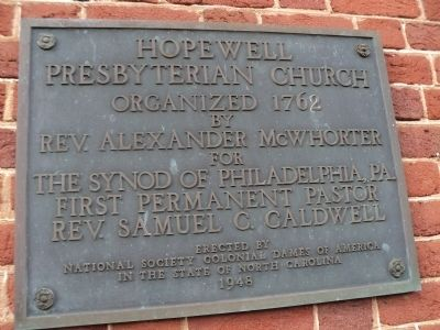 Hopewell Presbyterian Church Marker image. Click for full size.