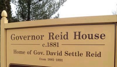 Governor Reid House Marker image. Click for full size.
