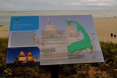 The Mayflower Story Marker image. Click for full size.