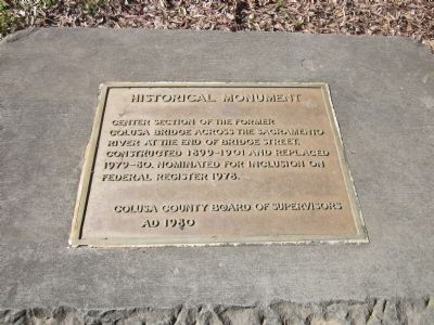 Center Section of the Former Colusa Bridge Marker image. Click for full size.