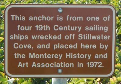 19th Century Sailing Ship's Anchor Marker image. Click for full size.