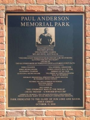 Paul Anderson Memorial Park image. Click for full size.