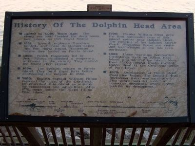 History Of The Dolphin Head Area Marker image. Click for full size.