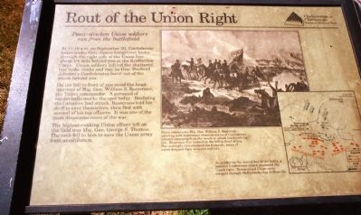 Rout of the Union Right Marker image. Click for full size.