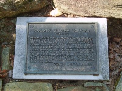 Colonel William Wofford Marker image. Click for full size.