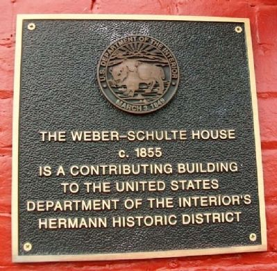 The Weber-Schulte House NRHP Marker image. Click for full size.