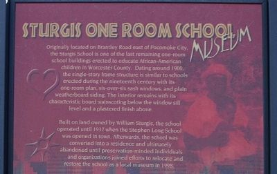 Sturgis One Room School Marker image. Click for full size.