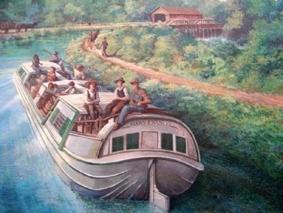 Ohio and Erie Canal Mural Detail image. Click for full size.