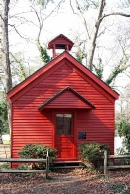 The One Room Schoolhouse with Marker and added stoop and belfry, as mentioned image. Click for full size.