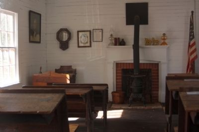 The One Room Schoolhouse intreior view image. Click for full size.