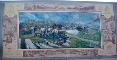 Civil War Mural image. Click for full size.