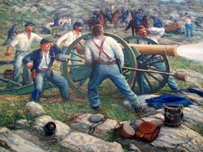 Civil War Mural Detail image. Click for full size.