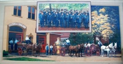 Early Police and Fire Departments Mural image. Click for full size.