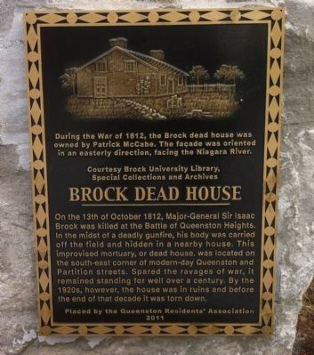 Brock Dead House Marker close-up image. Click for full size.