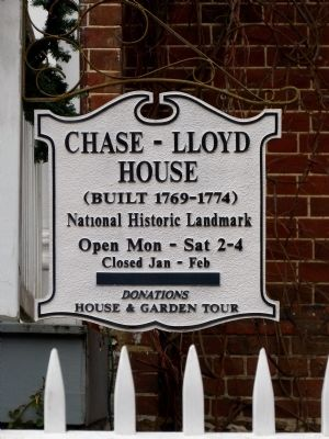 Chase-Lloyd House Sign image. Click for full size.