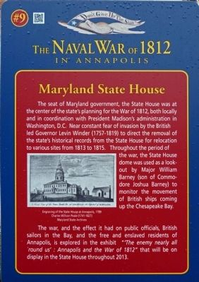 Maryland State House Marker image. Click for full size.