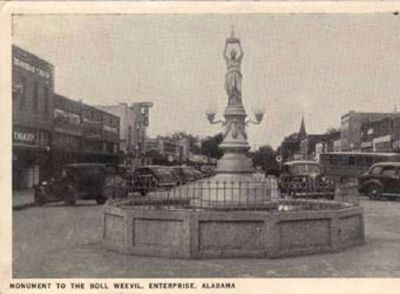 Original Boll Weevil Monument image. Click for full size.
