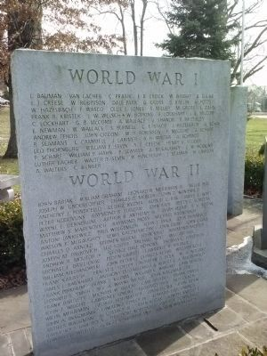 World War I and World War II Honorees image. Click for full size.