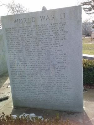World War II Honorees image. Click for full size.