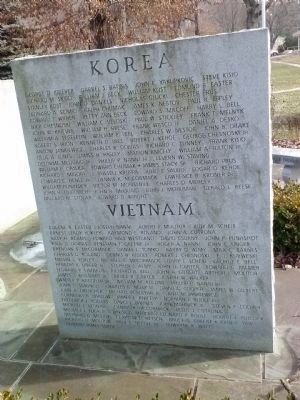 Korean War and Vietnam War Honorees image. Click for full size.