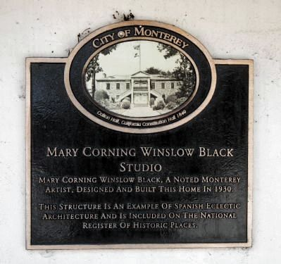 Mary Corning Winslow Black Studio Marker image. Click for full size.