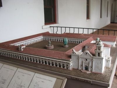 Mission San Luís Rey Model circa 1830 image. Click for full size.