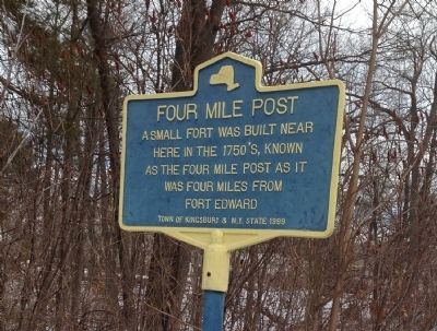 Four Mile Post Marker image. Click for full size.