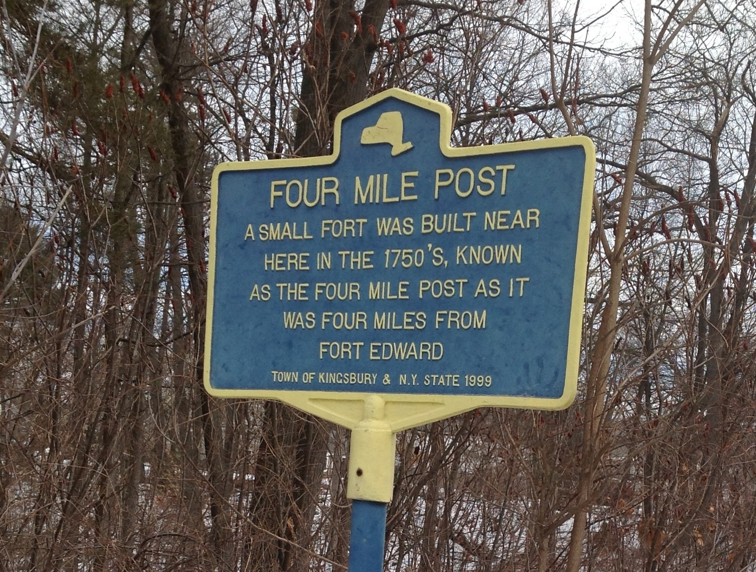 Four Mile Post Marker