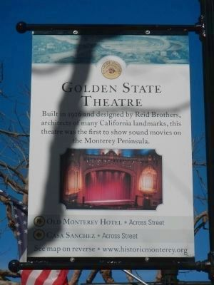 Golden State Theatre Marker image. Click for full size.