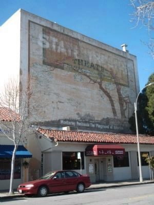 The Rear of the Golden State Theatre on Tyler Street image. Click for full size.