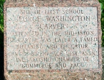 Site of First School George Washington Carver Attended Marker image. Click for full size.