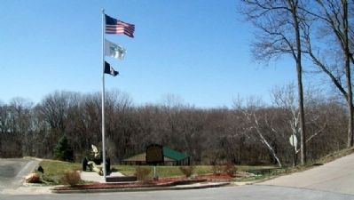 Platte City Marker at Settlers Crossing Park image. Click for full size.