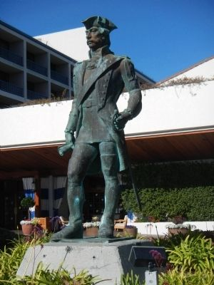 Statue of Captain Don Gaspar de Portola image. Click for full size.