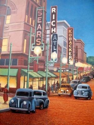Chillicothe Street, 1940's Mural Detail image. Click for full size.