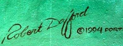 Muralist Signature on The Portsmouth Shoe-Steels Mural image. Click for full size.