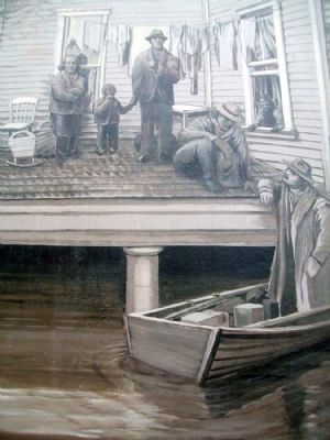 1937 Flood Mural Detail image. Click for full size.