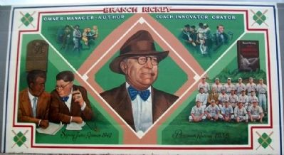 Branch Rickey Mural image. Click for full size.