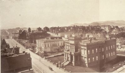 The Flood, Huntington, and Crocker Mansions on Nob Hill (1902) image. Click for full size.