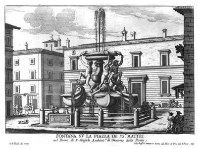 Fountain of the Tortoises (<i>Fontane delle Tartarughe</i>), Rome image. Click for full size.